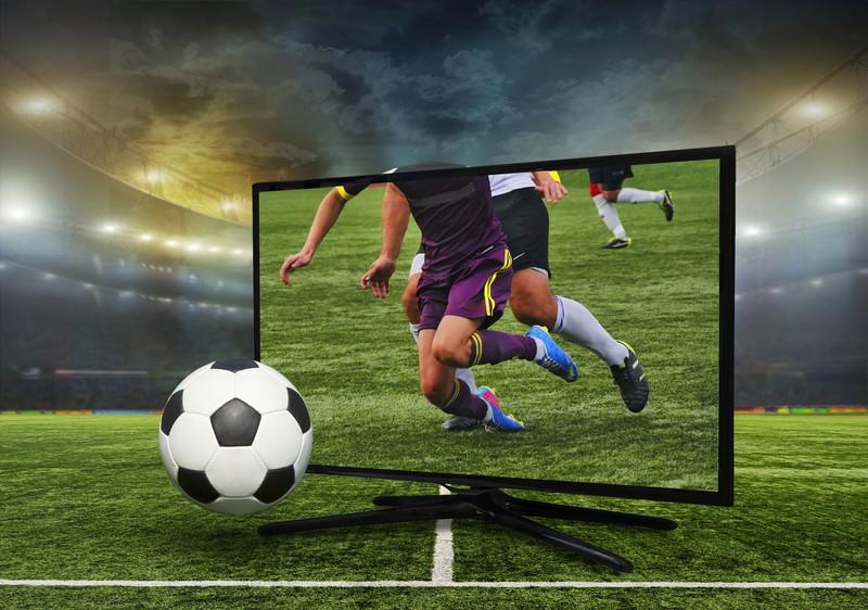 テレビでサッカー観戦